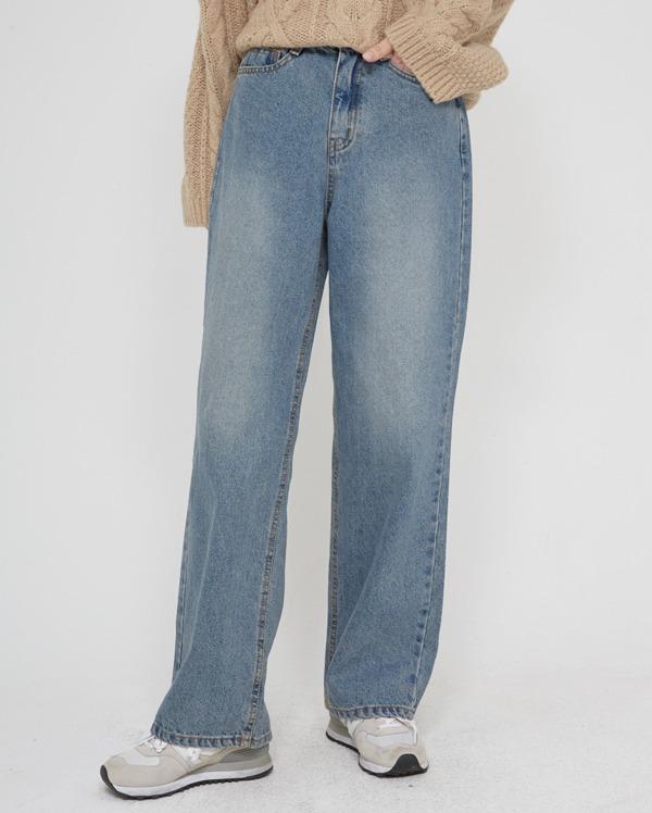a napping wide denim pants (s, m, l, xl)
