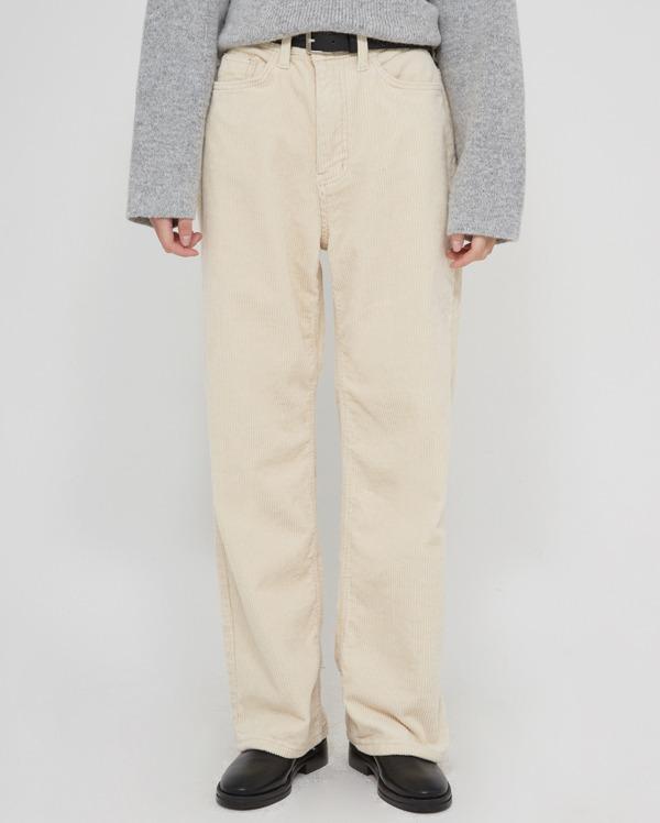 mild wide corduroy pants  (s, m, l)
