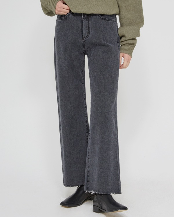 bow straight cutting pants  (s, m, l)