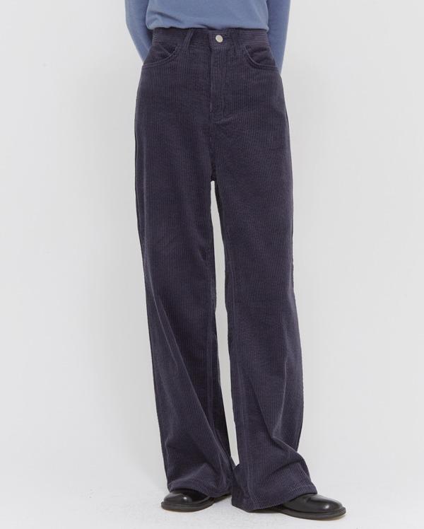 snap corduroy wide pants (s, m, l)