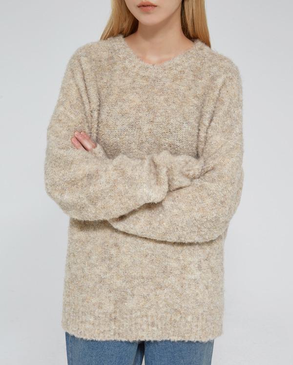 cloud bokashi round knit