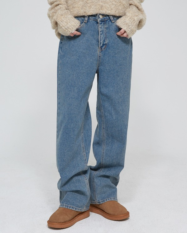 beinny wide denim pants (s, m, l)