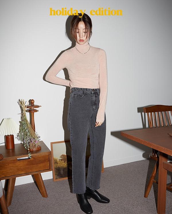 solid dark gray denim pants (s, m, l, xl)