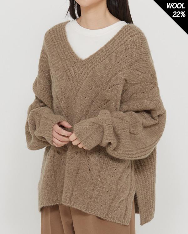 tend natural fit v-nack knit