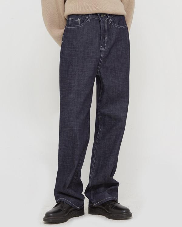 off stitch line denim pants (s, m, l)