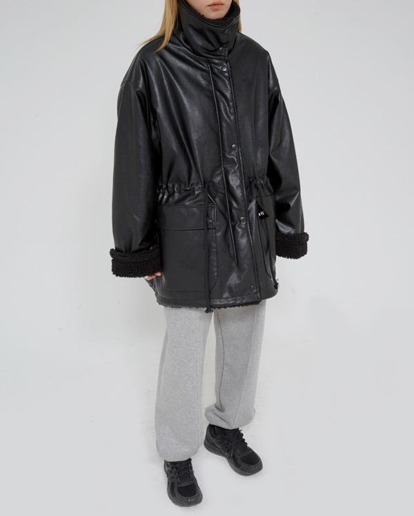 leather dumble  jumper