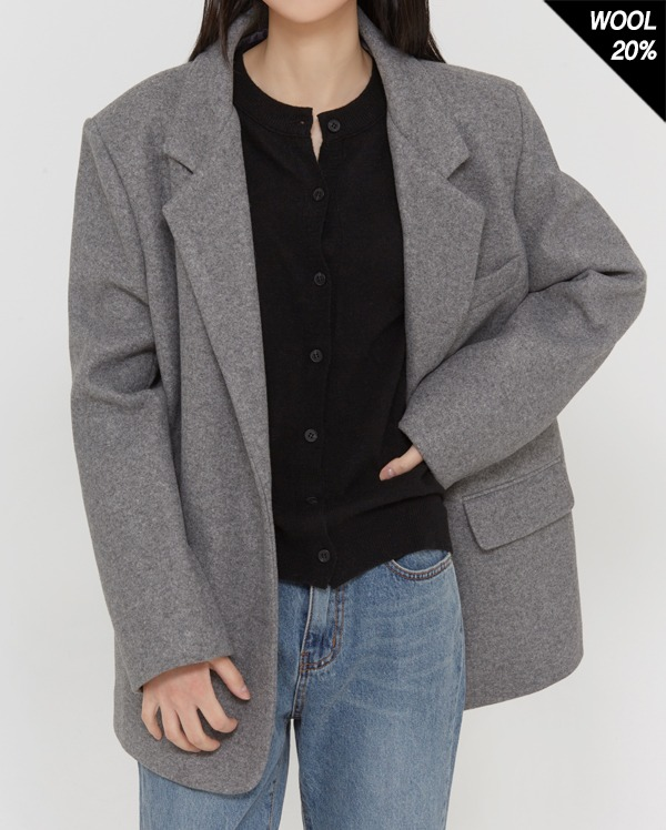 join two button wool jacket