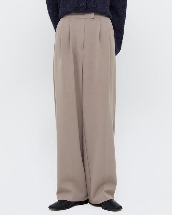 roze pintuck wide slacks (s, m, l)