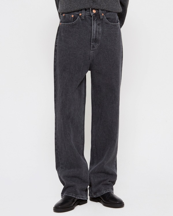 carrot black denim pants (s, m, l)