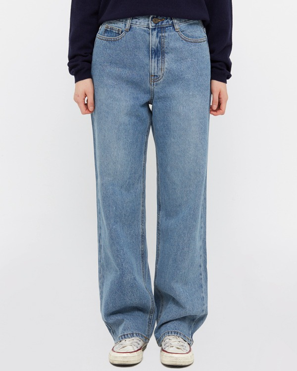 bright denim wide pants (s, m, l, xl)