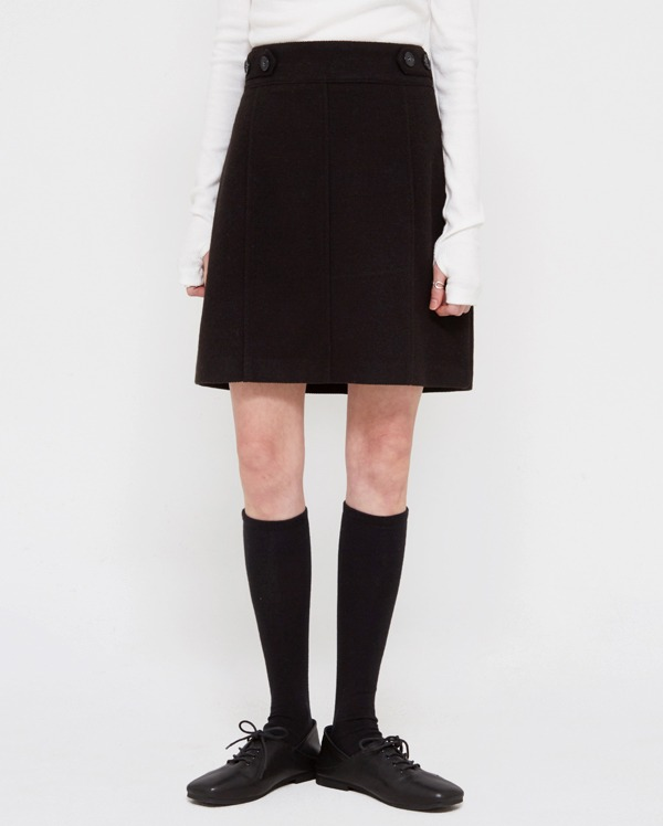 vekey button mini skirts