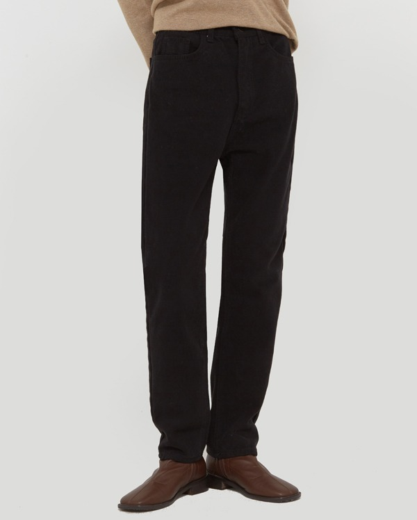 and slim straight cotton pants (s, m, l)