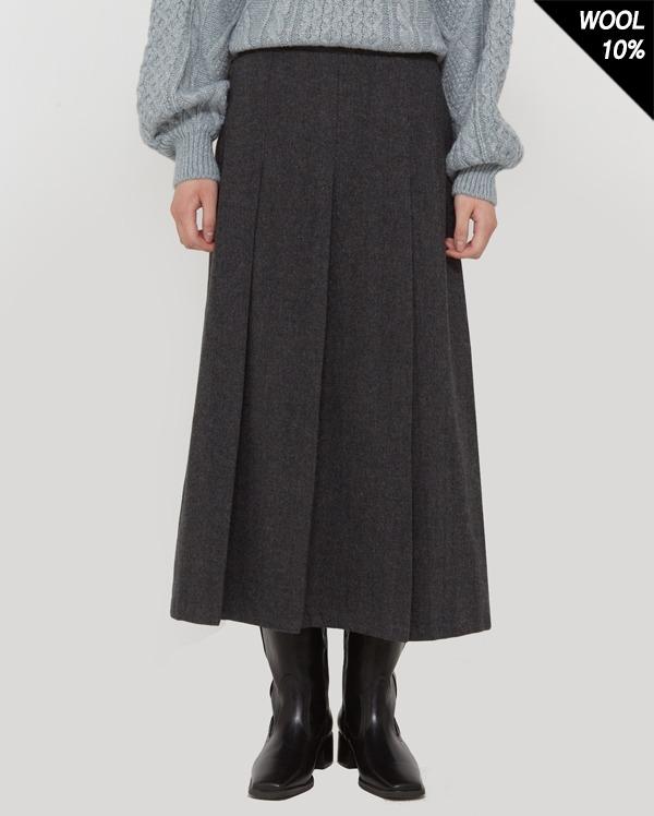 nore herringbone pleats skirts (s, m)
