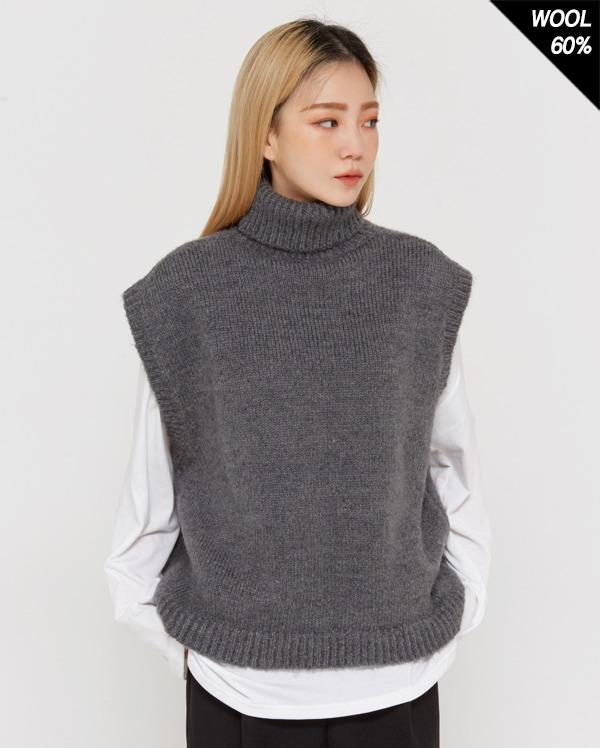 dail wool polar vest