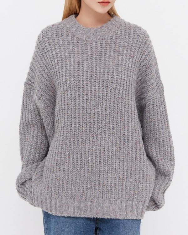 mix color droop knit