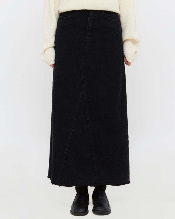 a maxi denim long skirt (s, m, l)