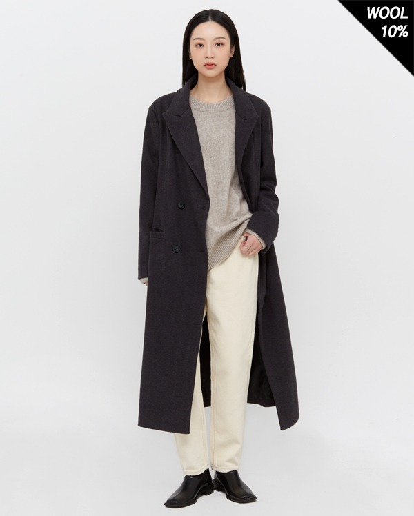 by double herringbone coat