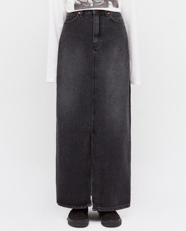 dan slit long danim skirts (s, m, l)