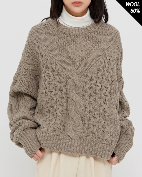 good bay cable wool knit