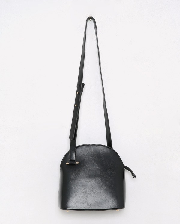 half moon leather cross bag