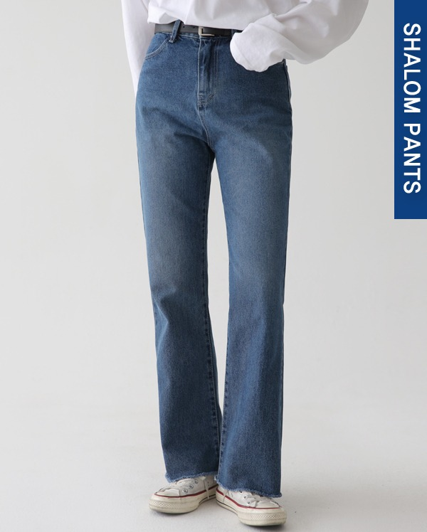lev wide denim pants (s, m, l)