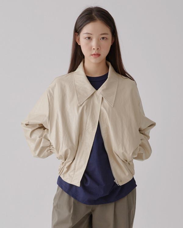 como leather short jacket