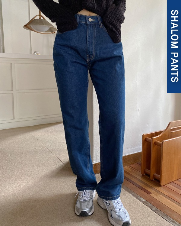 103_deepblue long denim pants (s, m, l)