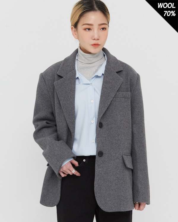 dan two button wool jacket