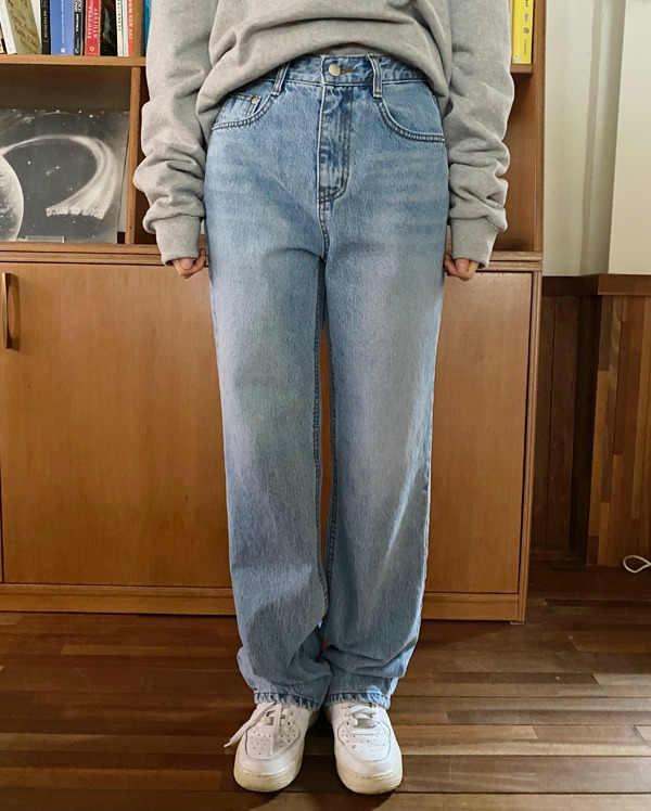 studio wide denim pants (s, m, l)