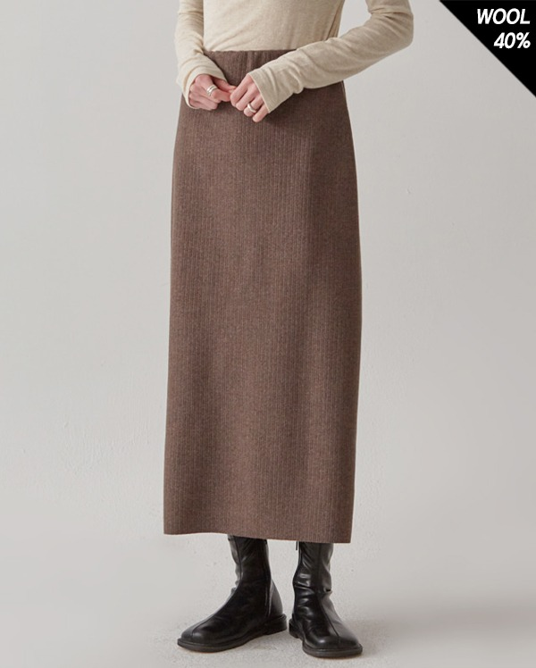golgi H-line knit long skirt