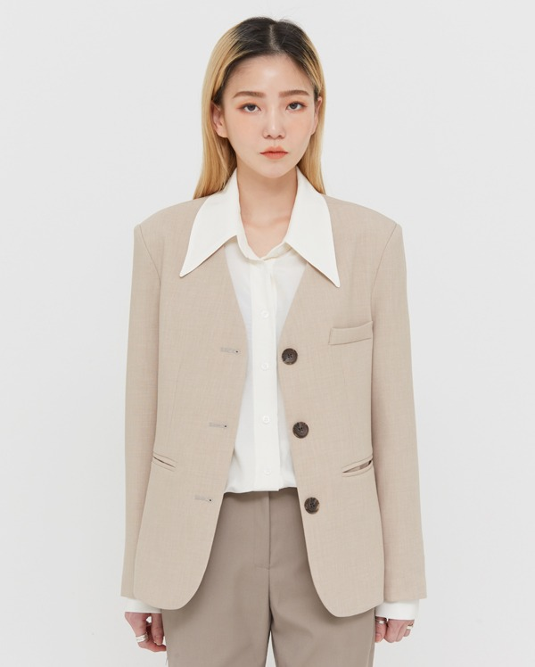 moly non collar jacket