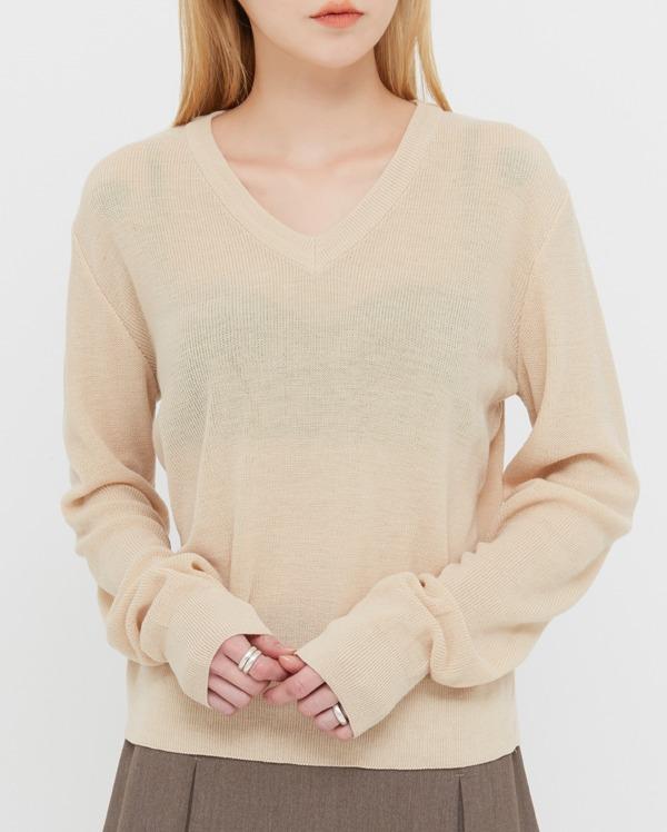 a standard v-neck knit