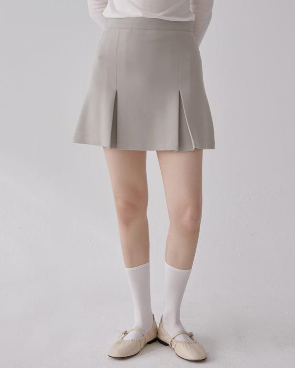 pleats mini skirt (s,m)