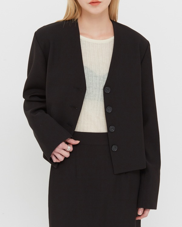 mode v-neck jacket
