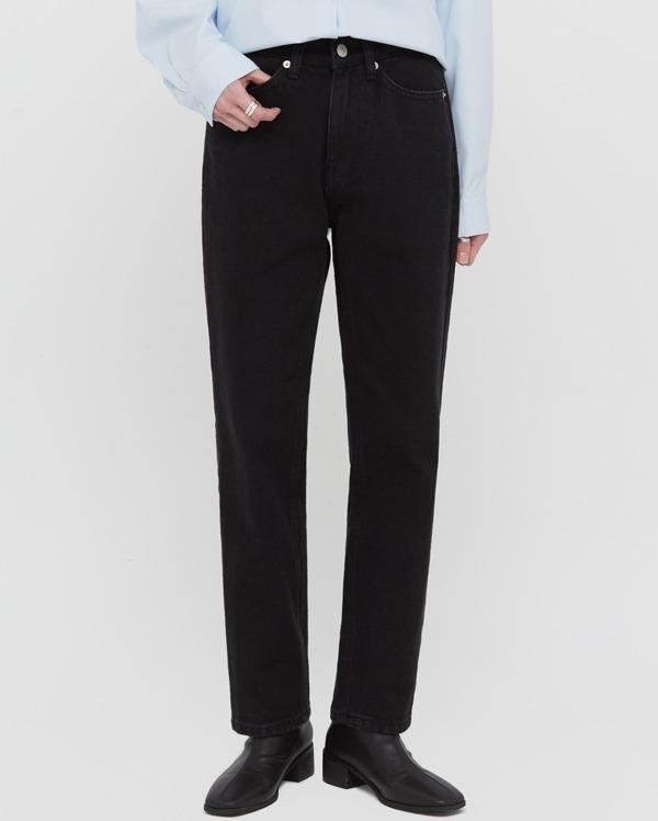 leaf black cotton pants (s, m)