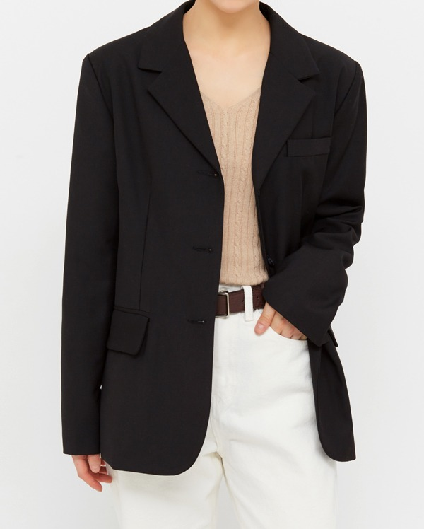 ded single button jacket