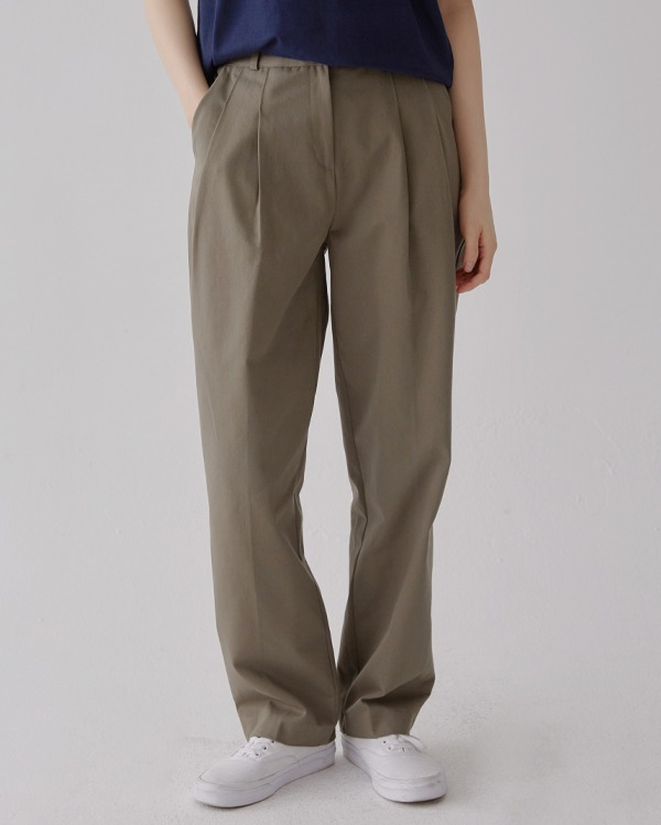 rown cotton banding pants