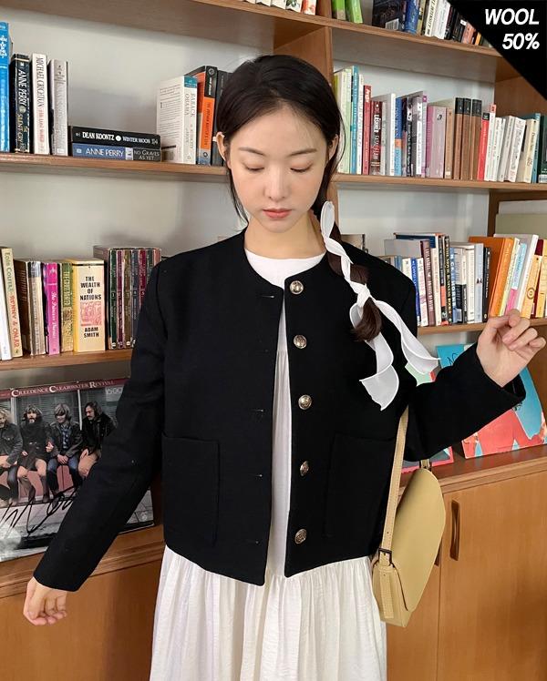 usal round wool jacket