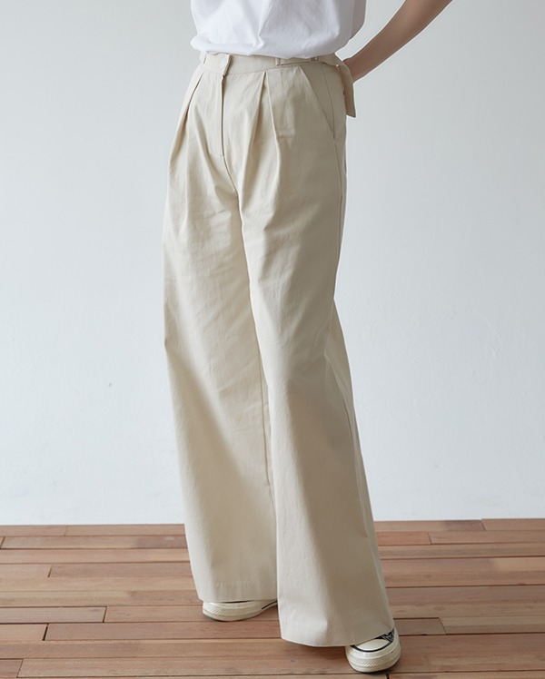 vintage wide cotton pants