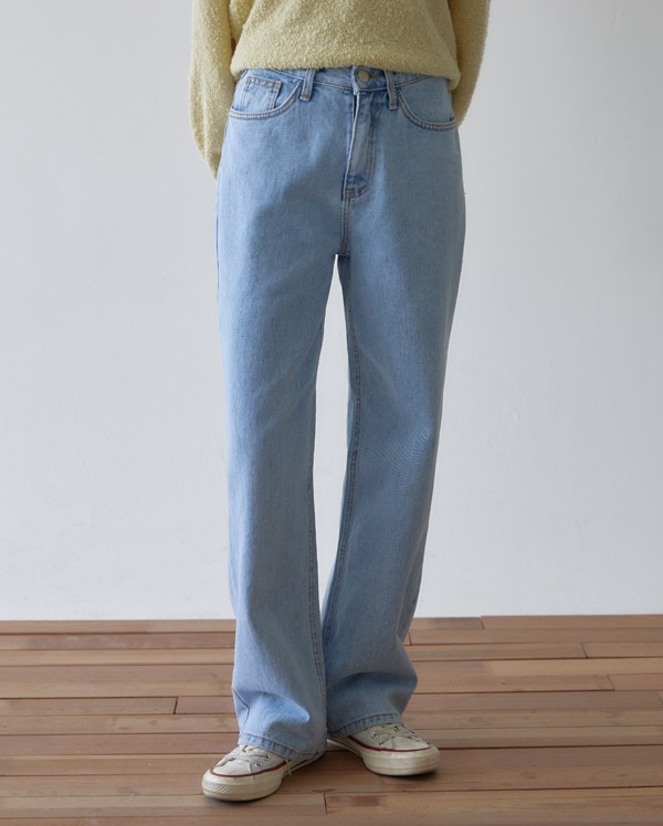 hate straight denim pants (s, m, l)