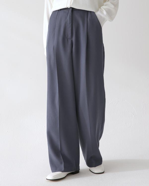 hazel pintuck wide slacks (s, m, l)