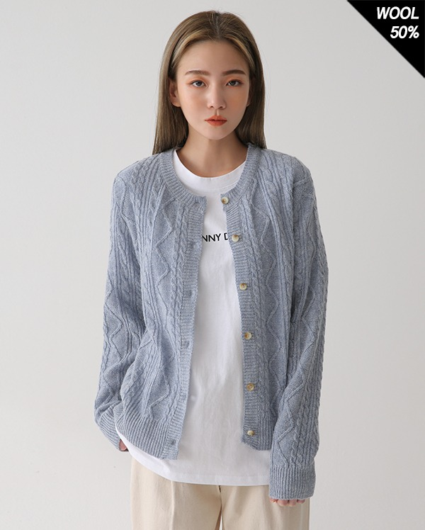 toy cable round cardigan