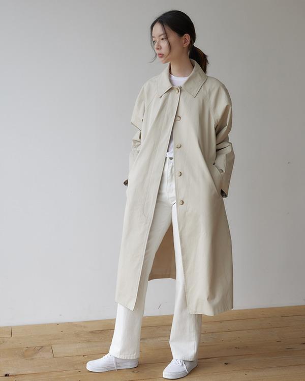 hidden single trench coat
