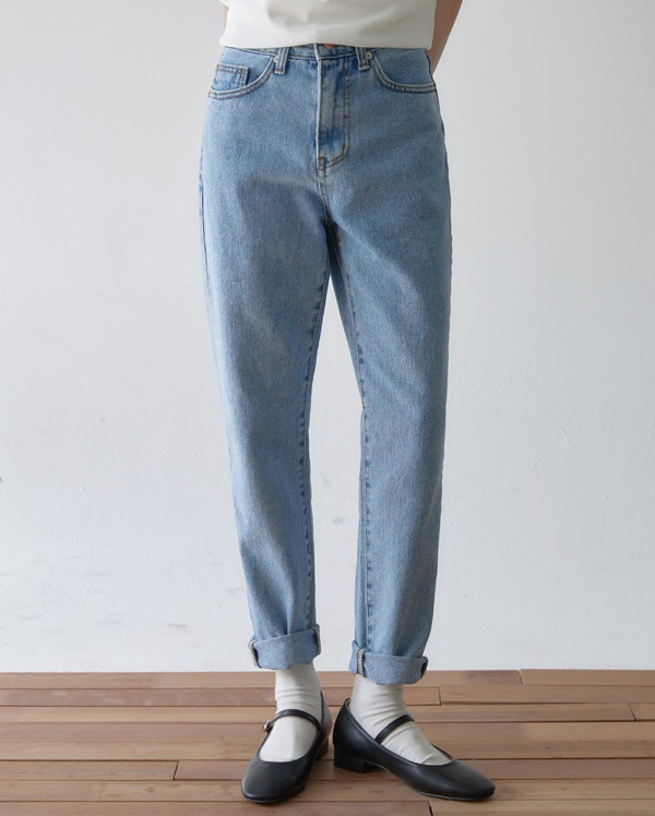 with silm denim pants (s, m, l)