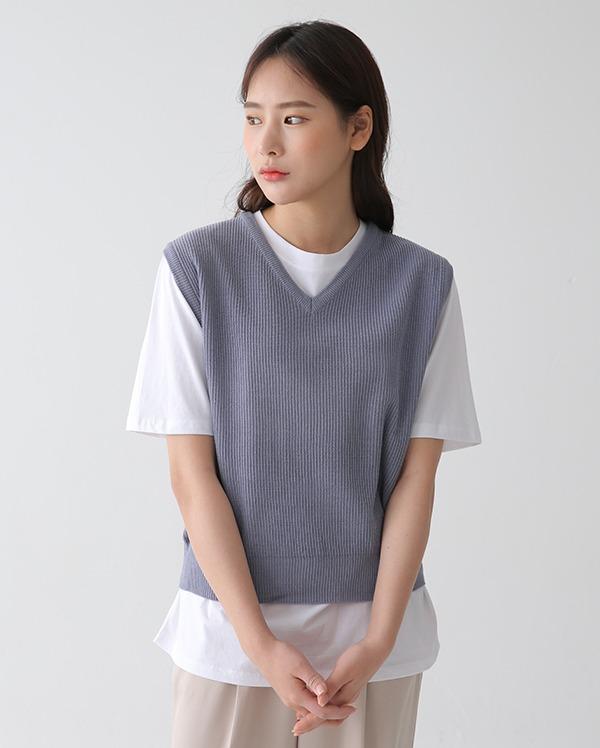some v-neck vest knit