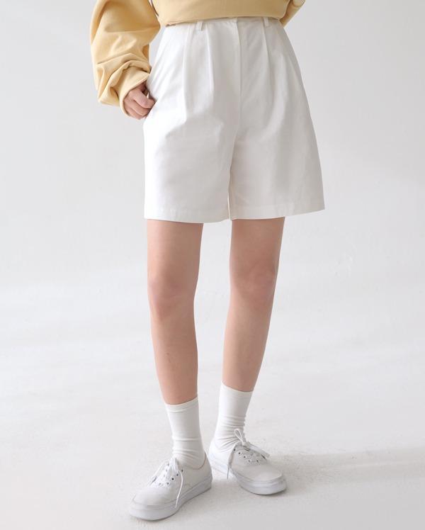 tote pintuck half pants (s, m)