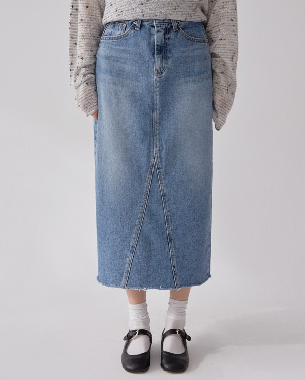 day h-line denim skirts (s, m, l)