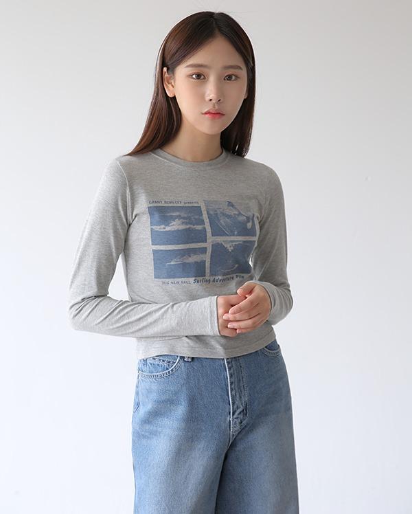 그렌트 긴팔 티셔츠 (3color)