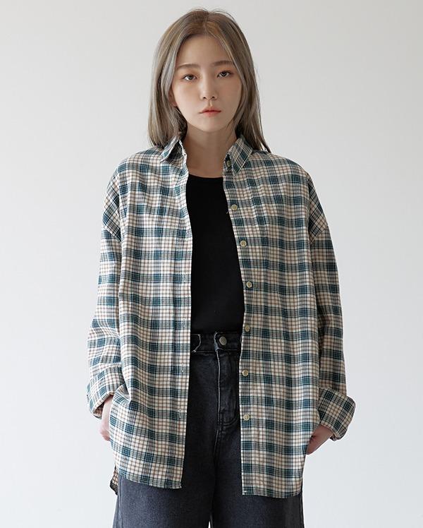 레시 체크 셔츠 (2color)