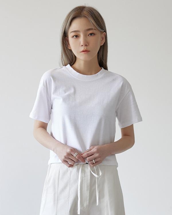 어썸 크롭 반팔 티셔츠 (3color)